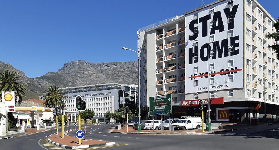 Virus billboards in Cape Town, South Africa.